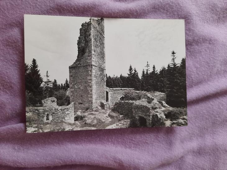 Pohlednice HUMPOLEC - Zříceniny hradu Orlíka,neprošlé poštou  - Pohlednice