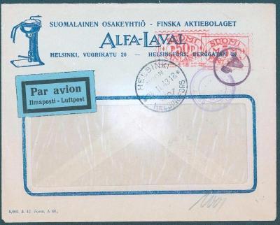 17B239 Letecký dopis Helsinky / Finsko do Prahy