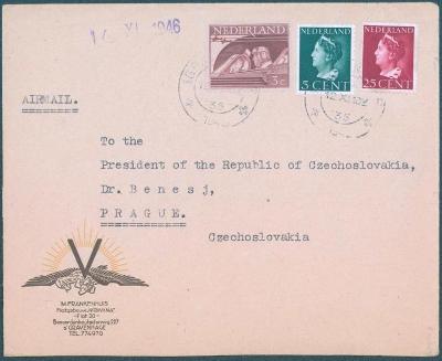 17B243 Gravenhage / Neederland na presidenta ČSR -  Dr. Beneš rarita!!