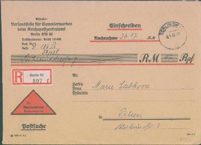 14B113 Oficiální dopis pro cenné psaní Berlín - Plzeň