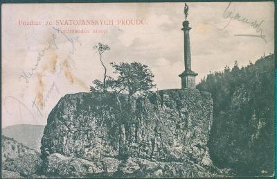 10D551 Pozdrav ze Svatojánských proudů, Ferdinandův sloup