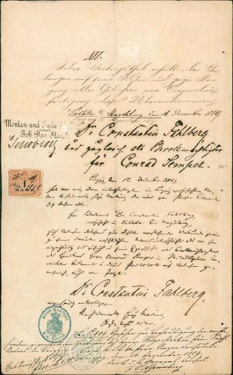 2A632 Dopis Dr. Constantin Fahlberg - ruský chemik, obj. sacharin