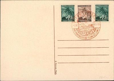 12B880 Lístek - III. výstava poštovních známek Písek 1941
