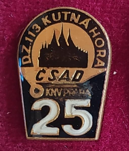 P97 Odznak ČSAD Kutná Hora, KNV Praha  1ks - Faleristika