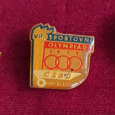 P97 Odznak ČSAD KNV Praha VII. sportovní olympiáda 1979  - 1ks