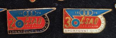 P98 Odznak ČSAD 2. + 3. sportovní olympiáda Praha 2ks