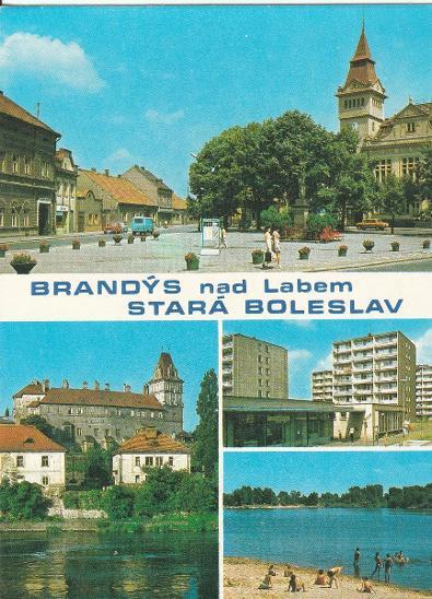 BRANDÝS NAD LABEM - STARÁ BOLESLAV  - Pohlednice