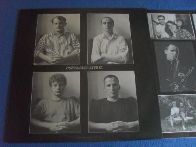 LP Psí Vojáci - Live II. RARE (PODEPSANÁ PŘÍLOHA)