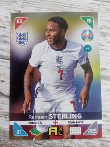 Fotbalová kartička - Raheem Sterling - Euro 2020