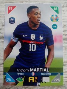 Fotbalová kartička - Anthony Martial - Euro 2020
