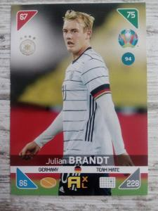 Fotbalová kartička - Julian Brandt - Euro 2020
