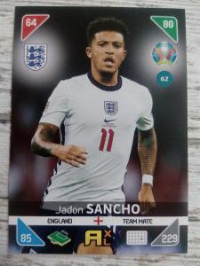 Fotbalová kartička - Jadon Sancho - Euro 2020
