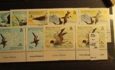 Anglické kolonie B.I.O. fauna  ptáci