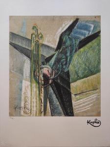 František Kupka - Abstrakce - certifikát 70 x 50 cm