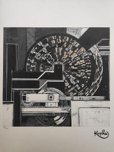 František Kupka - STUDIE HUDBY - certifikát 70 x 50 cm