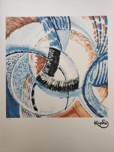 František Kupka - OKOLO JEDNOHO BODU - Certifikát, 70 x 50 cm
