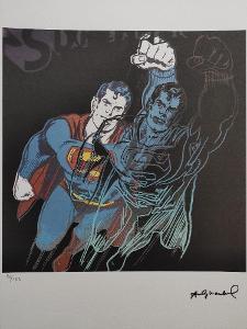 Andy Warhol - SUPERMAN - Certifikát, Signováno, číslováno