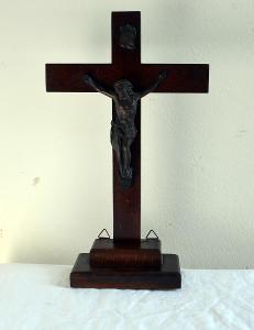 STARÝ DŘEVĚNÝ KŘÍŽ - KRISTUS - JEŽÍŠ /18566