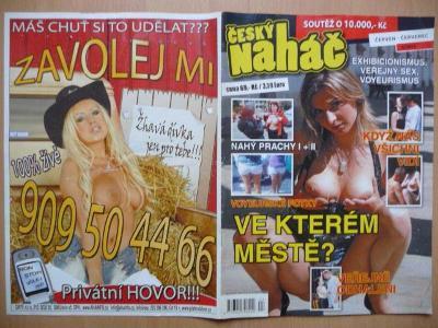 Erotický časopis - ČESKÝ NAHÁČ - číslo 4 z roku 2012