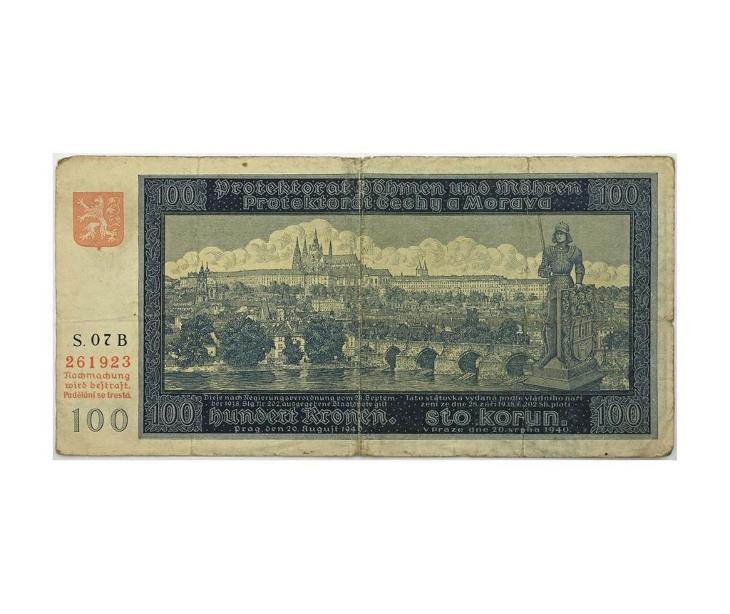 100 K 1940, I. vydání, série 07 B - Bankovky
