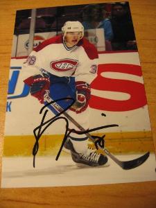 Jan Bulis - Montreal Canadiens - orig. autogram