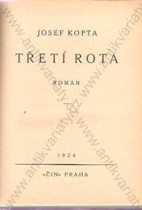 Třetí rota I., II. Josef Kopta Čin, Praha 1930