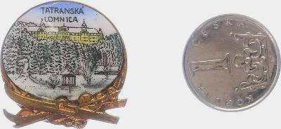 Tatranská Lomnica, Slovensko, starý zdob. smalt. bronz. turist. odznak