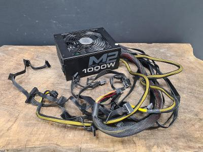 CoolerMaster M2 Silent Pro 1000W, 80+ SILVER, Modulární