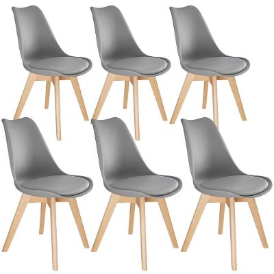 tectake 403818 6 jídelní židle friederike - šedá