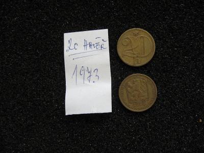 20 haléř - 1973 - mince nečištěná z peněžního oběhu, mincovna