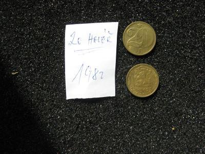 20 haléř - 1982 - mince nečištěná z peněžního oběhu, mincovna
