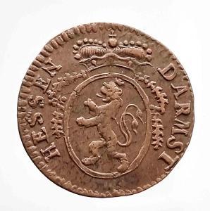 Hessen Darmstadt - 1Pfennig 1794 - velmi povedená měděná mince