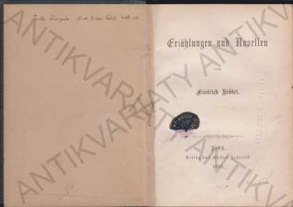 Erzählung und Novellen Friedrich Hebbel 1855