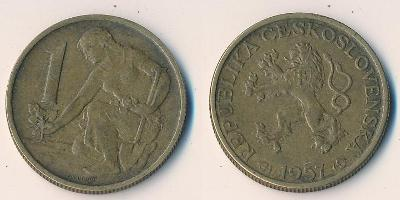 Československo 1 koruna 1957