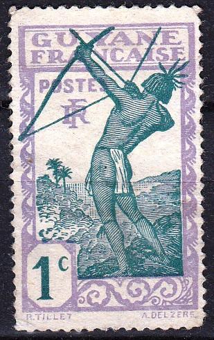 Francouzská Guyana 1929 Mi.109 (*) neprošla poštou, bez lepu