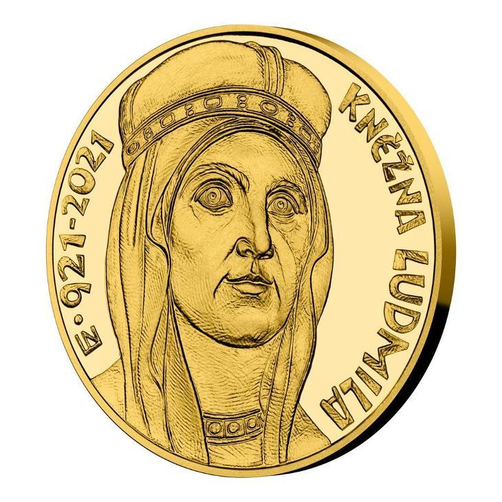 Zlatá mince 10000 Kč 2021 Kněžna Ludmila proof - Numismatika