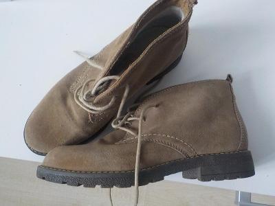 5th avenue  celokožene oteplene kotnikove boty vel 36