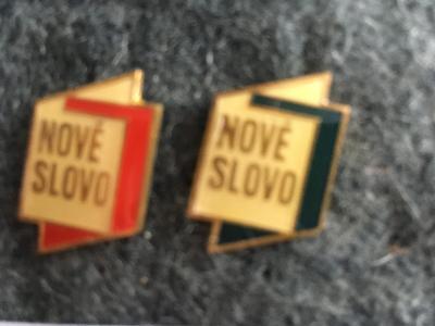 Prodán odznaky - ČASOPISU NOVÉ SLOVO.
