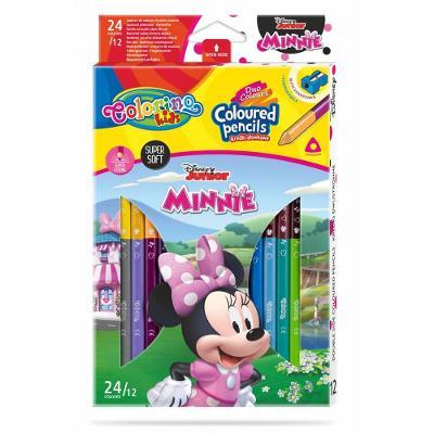 Colorino pastelky Minnie Duo Trio 24 barev + ořezávátko