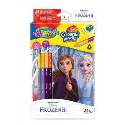 Colorino pastelky Frozen Duo Trio 24 barev + ořezávátko