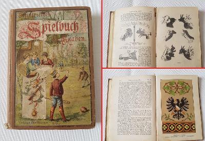 Stará příručka hry pro chlapce 1899 RU děti sbírka zábav her a aktivit