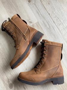 Hnědé kožené  boty/glády Timberland vel 37