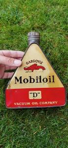 Stará plechovka trojúhelníková od oleje Mobiloil k JAWA ČZ Top stav !