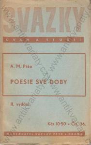 Poesie své doby Svazky úvah a studií Čís. 36 1946