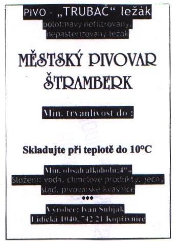 Etiketa Štramberk 001