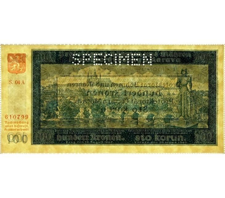 100 K 1940, II. vydání, série 04 A, perforovaná - Bankovky