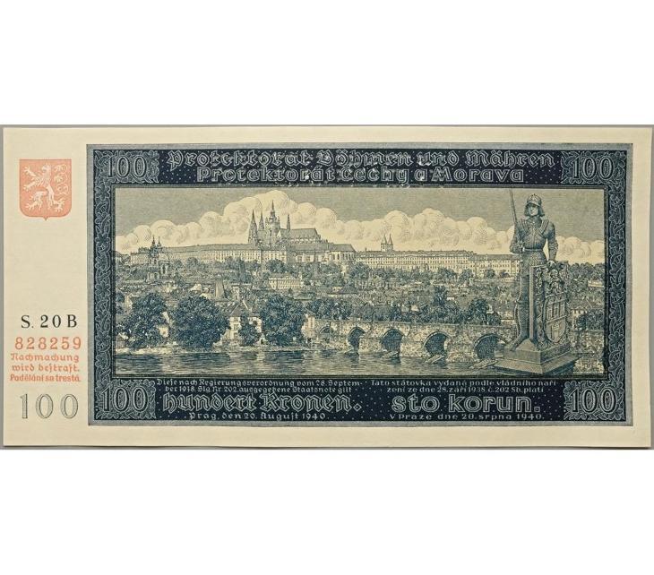 100 K 1940, I. vydání, série 20 B, perforovaná - Bankovky