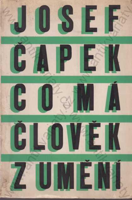 Co má člověk z umění Josef Čapek 1946 - Knihy