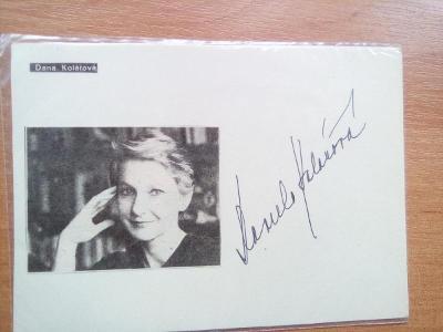 autogram - DANA KOLÁŘOVÁ
