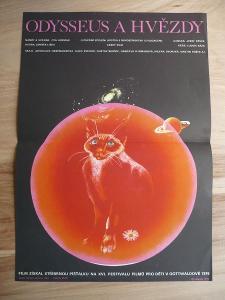 Odysseus a hvězdy (filmový plakát, film ČSSR 1976, rež